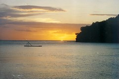 Dakak (Farl) Tags: travel sunset sea vacation sky sun water composition horizon philippines memories 1996 scan pointandshoot raft zamboanga dakak zamboangadelnorte foundprintphoto proudlypinoy