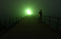 Man on a Pier (Leon Sammartino) Tags: portrait man me night standing self canon geotagged foggy g3 peir mordialloc geolat380113 geolon145084