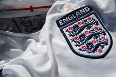 Come on England (stevec77) Tags: england closeup shirt d50 football clothing soccer crest nikond50 polyester threelions umbro englandfootball stgeorgescross footballshirt englandtop footballassociation englandfootballteam