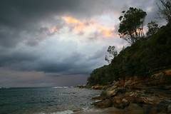 Storm Clouds at Sunset - Royal National Park NSW Australia (down_the_rabbit_hole) Tags: ocean sunset cloud storm water landscape bravo searchthebest dusk magicdonkey outstandingshots specland 1on1naturephotooftheday abigfave