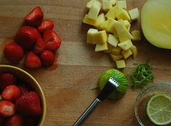 Fruity Freshness - Preparation (MeetaK) Tags: food fruit breakfast recipe strawberry mango brunch jelly jam preserve marmalade cookingbloggers