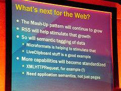 Whats next for the web? (Martin Kliehm) Tags: media rss xmlhttprequest atmedia microformats mashups web30 media2006 atmedia2006 atmediaslides ltw2006atmediadayone