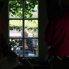 window wine (beta karel) Tags: party portrait woman window wine 2006 frame canoneos350d betakarel betakarel