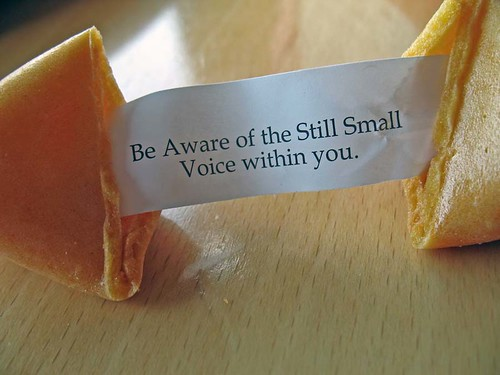 Be Aware of the Still Small Voice within you.