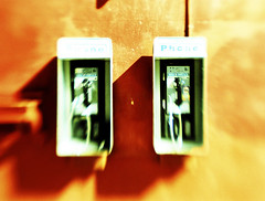 payphones. venice, ca. 2006. (eyetwist) Tags: california venice lensbaby 35mm la losangeles los xpro crossprocessed saturated nikon cross angeles phonebooth crossprocess 2006 ishootfilm payphone socal venicebeach process redwall fujichrome processed payphones 90291 hicon rdp angeleno betterlivingthroughchemistry eyetwist ishootfuji zip90291 dramaticcolor contactforstockusage thisimagemaybeavailableforlicensecontactformoreinfo wstla