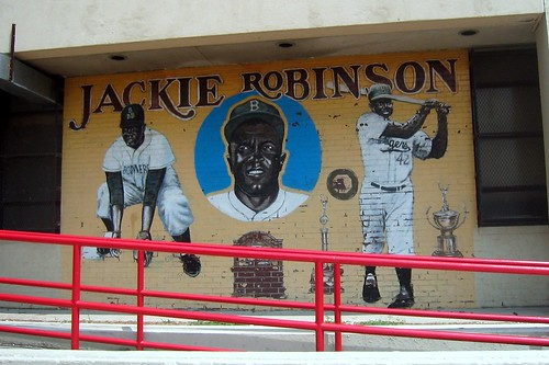 Brooklyn - Crown Heights: P.S. 375 Jackie Robinson School - Mural