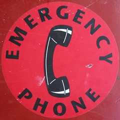 Emergency Phone (hambox) Tags: sign telephone becky squaredcircle 2000s july2006 hambox themered hamblogpic