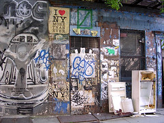 NYC #57 (digital_freak) Tags: nyc streetart eastvillage newyork trash graffiti fridge junk mural manhattan refrigerator decrepit dilapidated iloveny ilovenewyork top20nyc digitalfreak ilovenewyorkmorethanever
