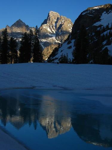 Grand Teton from Lake Solitude