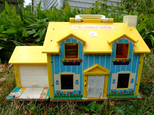 "Vintage Fisher Price ""Play Family House"" by British American."