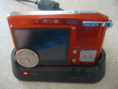Casio Camera charging ready for use