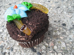 this little fella... (_melika_) Tags: cupcakes chocolate newportbeach worm frosting bristolfarms