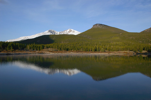 Longs Peak above Lily Lake