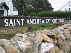 The Pope at Church (The Traveling Pope) Tags: pope island travels block mattatuck