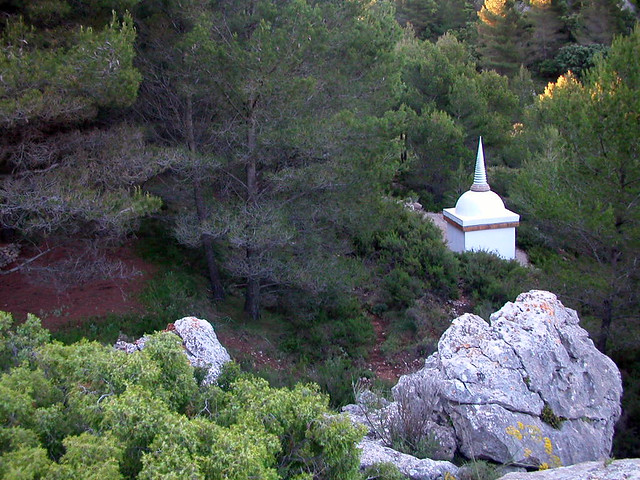 Ordination Stupa   from above