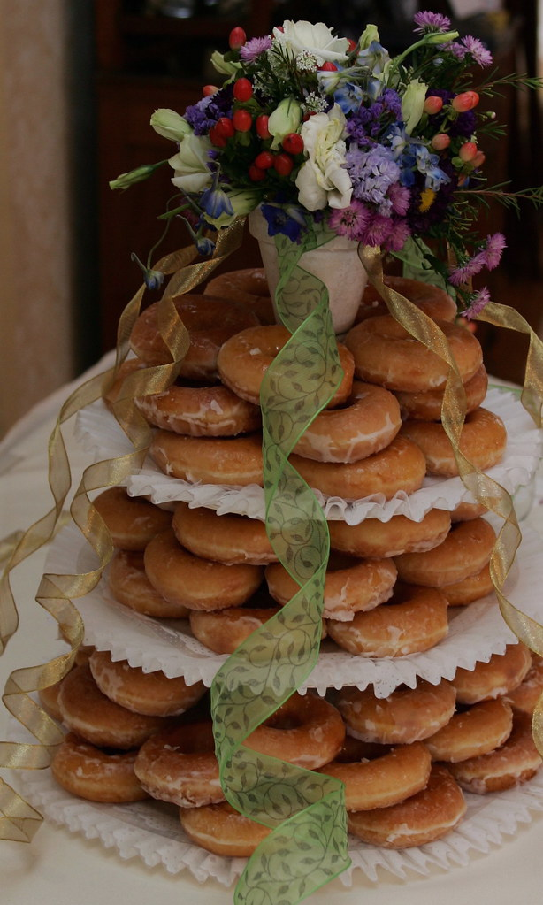 Our Krispy Kreme Wedding Cake