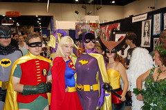 Comic Con 2006: Supergroup (earthdog) Tags: 2006 sandiego summervacation06 costume dccomics poisonivy hawkgirl batgirl supergirl robin batman cosplay justiceleague tvbatman batman66 comiccon comicbookcon comiccon06 1025fav unknownperson d50 nikond50 nikon unknownlens vacation travel