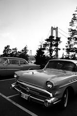 American influence in Sweden (kristina is kool with a k) Tags: auto bridge blackandwhite bw white black classic cars car 35mm blackwhite buick automobile sweden retro chrome american influence clasiccar