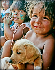 For our childrens sake? (carf) Tags: poverty girls brazil dog streets boys brasil kids puppy children hope kid community education support child hummingbird culture esperana social impoverished underprivileged shanty educational streetkids streetchildren beijaflor favela development investment prevention vitor cultural recuperation mundouno blackribbonicon