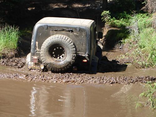 car in mud