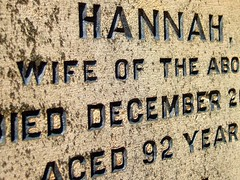 Hannah lived to a Ripe Old Age (Neon Heart) Tags: friedhof cemetery grave graveyard words interestingness birmingham letters cementerio carving explore gravestone cimetire jewelleryquarter cimiteri thecontinuum interestingness172 i500 bigpicture2008