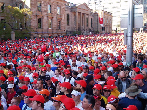 Waiting to go - The HSBC Starter pack - City to Surf