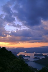 (shenxy) Tags: guangzhou china sunset sky cloud mountain lake topf25 landscape island guangdong fv10 25faves