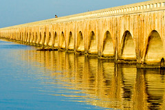 Old Seven Mile Bridge (key lime pie yumyum) Tags: old bridge blue gulfofmexico water keys florida marathon arches savedbythedeltemeuncensoredgroup sevenmilebridge littleduckkey fishting