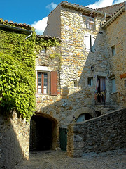 Narrow street at Vallon Pont d