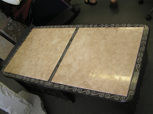 Marble Coffee Table (top view)