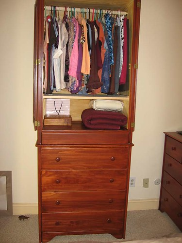 My new armoire, open