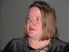 Elizabeth Bear wearing the JWC tiara