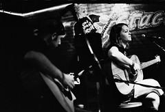 Mike and Kristall acoustic (williac) Tags: columbus ohio blackandwhite bw music 35mm fuji 1600 diafine neopan 135 oldfields yourfavoriteassassin cherrymarbles