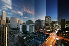 timelapsed downtown toronto (wvs) Tags: night clouds timelapse downtown day cntower multiple topf250 wvs ddoi