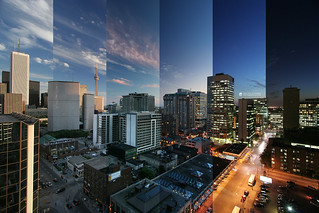 timelapsed downtown toronto