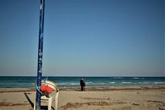 My sea (nene92) Tags: sea sanfoca chair plastic baloon father child seaside puglia italy panorama salento mare sedia allaperto bagnasciuga paesaggio litorale spiaggia adriatico