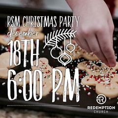 Tis the season for ugly sweaters, hot chocolate, and lots of cookies. Students, we hope you can join us for our RSM Christmas Party. We will play lots of games, eat lots of good food, and celebrate the birth of Jesus together. You dont want to miss this (rcokc) Tags: tis season for ugly sweaters hot chocolate lots cookies students we hope you can join us our rsm christmas party will play games eat good food celebrate birth jesus together dont want miss this invite your friends cant wait see there where john ross gym when sunday december 18th from 600730 what wear attire get creative redemptionstudents edmond edmondstudents christmasparty