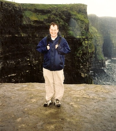 On the edge at the Cliffs of Moher, Ireland