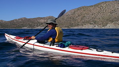 kayaking in the sea of cortez