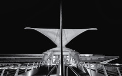 Reception At The Museum III (In Wonder Photo) Tags: bw white black wisconsin architecture nikon calatrava milwaukeeartmuseum milwaukee singhrayvarind afsnikkor1635mmf4gedvr markadsit