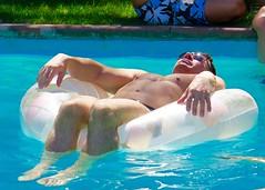 IMG_0138 (danimaniacs) Tags: shirtless man hot sexy guy hunk swimmingpool raft float stud