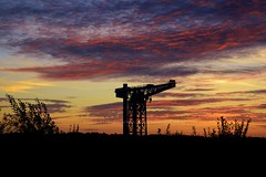 Summer Sunset (Michelle O'Connell Photography) Tags: summer sky silhouette skyline docks dusk shipyards clydebank dumbartonshire summersunset titancrane clydebanktitan clydebanktitancrane michelleoconnellphotography clydebankskyline clydebankwaterside