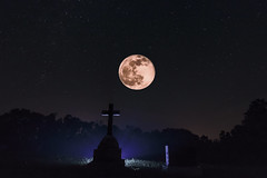 Moon, Stars and Headstone (superdavebrem77) Tags: moon composite astrophotography nightsky hss
