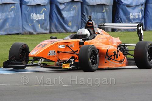 Jack Lang in BRDC F4 at Donington Park, September 2015