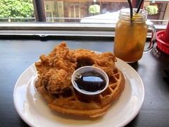 Lunch (su-lin) Tags: food london chicken lunch restaurant friedchicken waffle chickenandwaffle staxdiner
