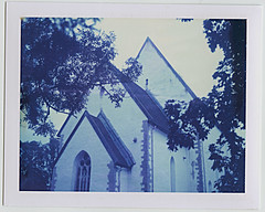 177_Saaremaa 2015_Polaroid 100 amd 108 film_118 (nefotografas) Tags: camera trip film church island estonia weekend short instant expired saaremaa polaroid100 102000 polaroid108 muhuisland