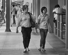 Leading Lady (Beegee49 - Off for a while had accident.) Tags: city ladies walking holding hands philippines filipino talisay