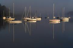 Boats (rogermarcel) Tags: mist sunrise boats bateaux brume waterscape rogermarcel
