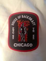Patch for the 'Backdraft' firehouse (glasscase3) Tags: 1991 firefighters jenniferjasonleigh backdraft robertdeniro kurtrussell chicagofiredepartment ronhoward williambaldwin scottglenn engine65 truck52 firepatch jtwalsh