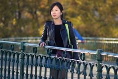 Autumn light portrait (argilaga) Tags: auto autumn light sunset portrait girl lens bokeh mc casual pentacon 28135 manualfocus f28 gdr 135mm femenine manuallens oldlens